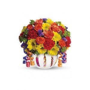 A basket of Happy Gerbera Daisies