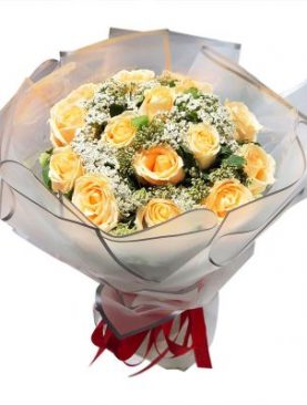 12 Elegance Long Stem Yellow Roses