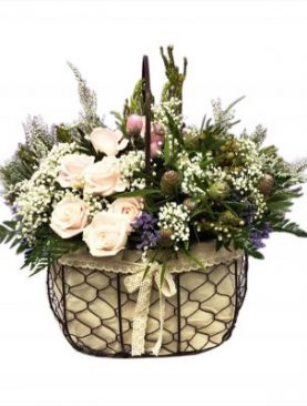 One dozen Roses accented with assorted greenery
