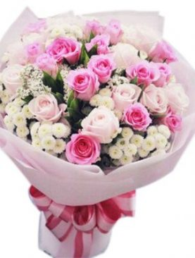 Pink and White Bouquet - 12 Stems