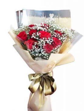 One dozen Ruby Rose Bouquet