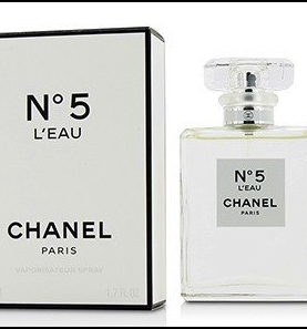 CHANEL N°5 L'EAU Eau de Toilette Spray Perfume for Women 1.7 OZ / 50 ml.