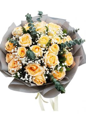 24 Elegance Long Stem Yellow Roses