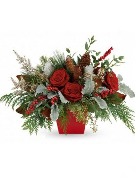 Red Holiday Joy Bouquet  #1