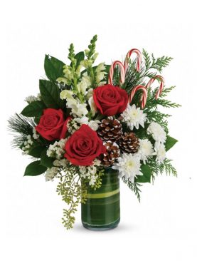 Red Holiday Joy Bouquet #3