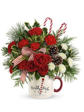 Red Holiday Joy Bouquet #2